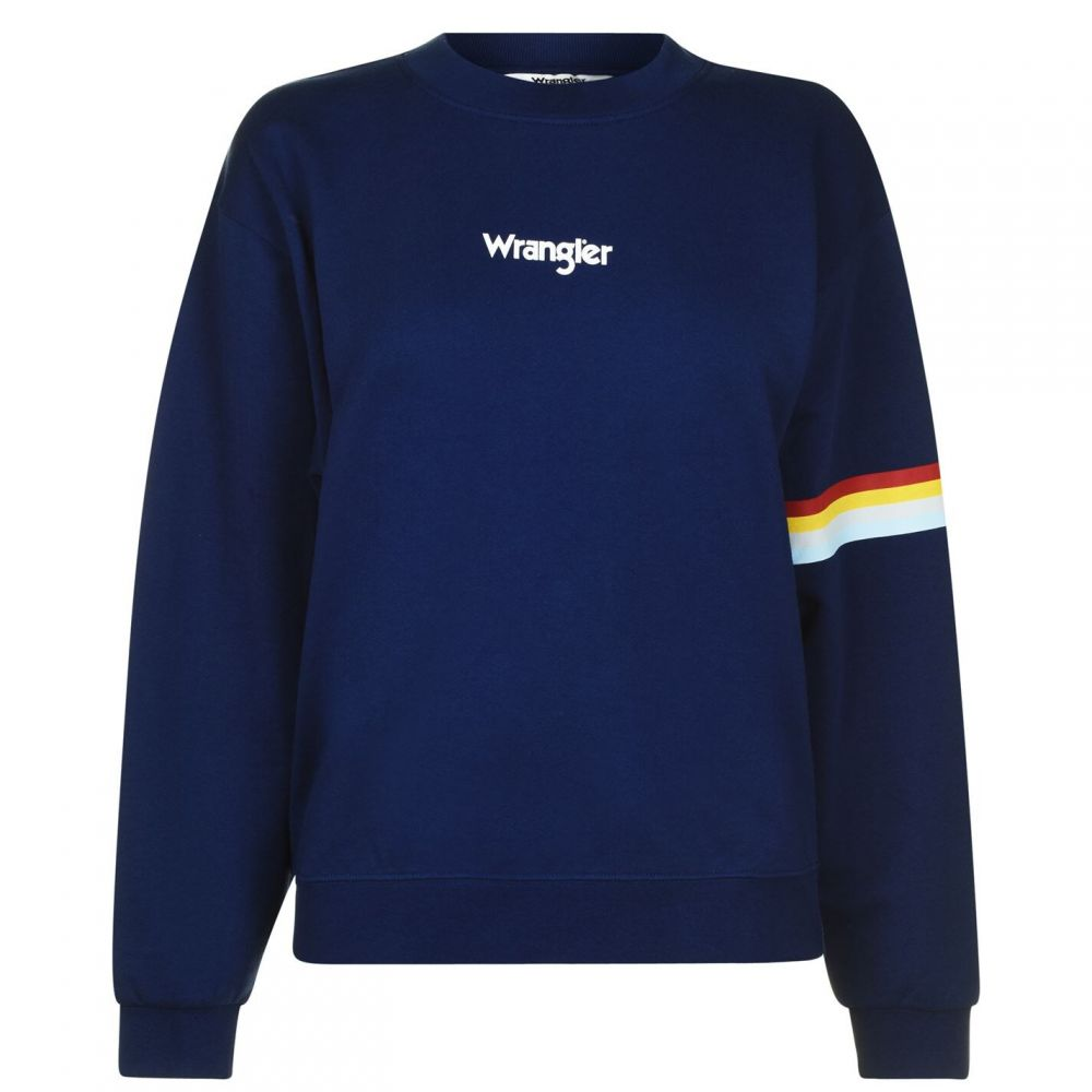 ラングラー Wrangler レディース スウェット・トレーナー トップス【Retro Crew Sweatshirt】Blue Depths