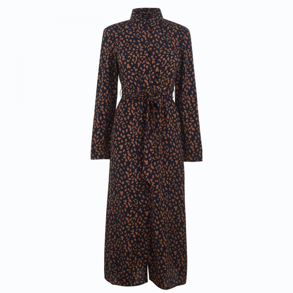 バルドー Bardot レディース ワンピース シャツワンピース ワンピース・ドレス【Leopard Shirt Dress】Nvy Leopard