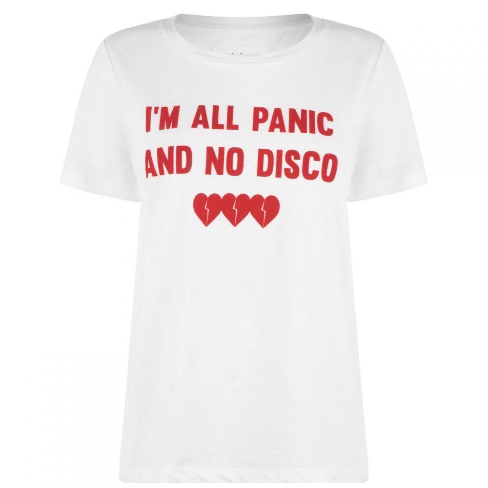 ブレイクセブン Blake Seven レディース Tシャツ トップス【Panic No Disco T Shirt】OFF WHITE