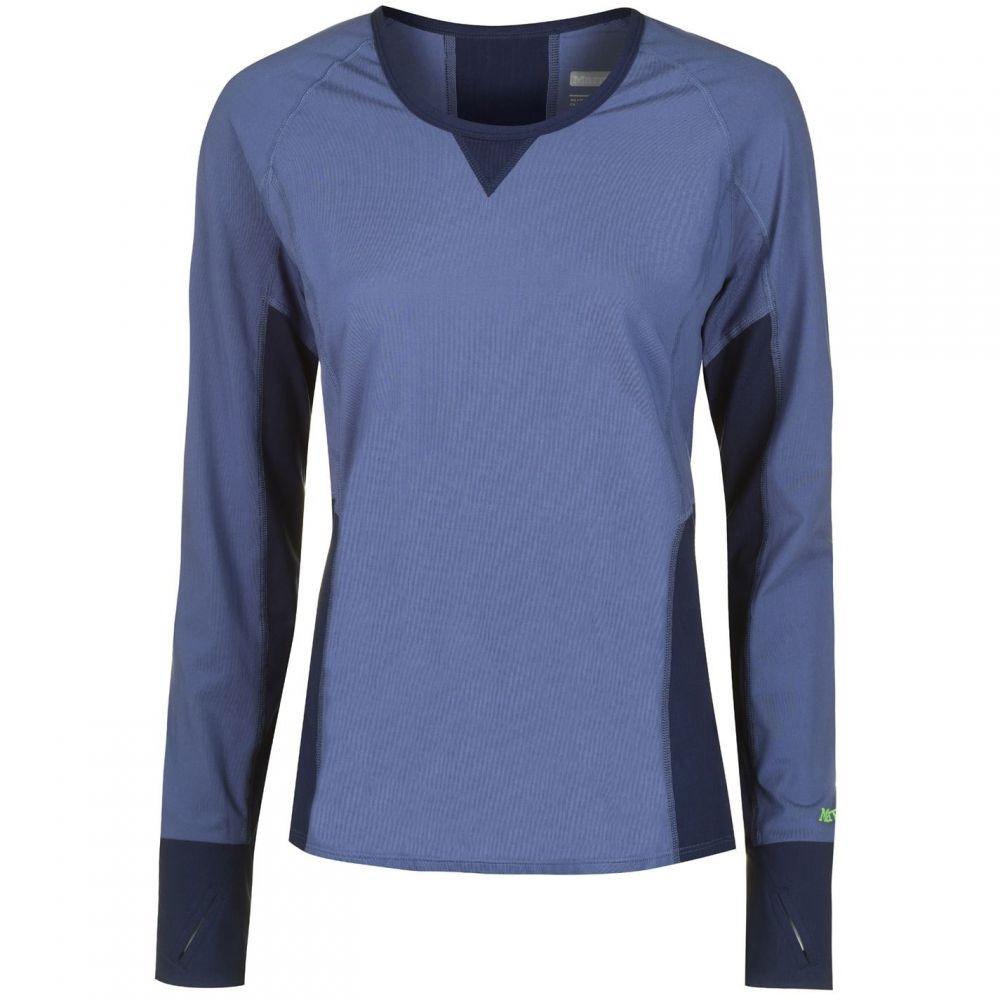 マーモット Marmot レディース 長袖Tシャツ トップス【Lana Long Sleeve T Shirt】Blue