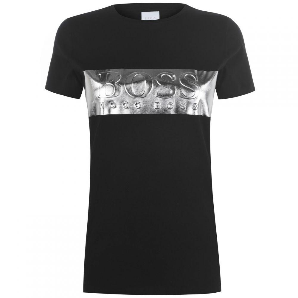 ヒューゴ ボス BOSS レディース Tシャツ トップス【Teshine T Shirt】Black