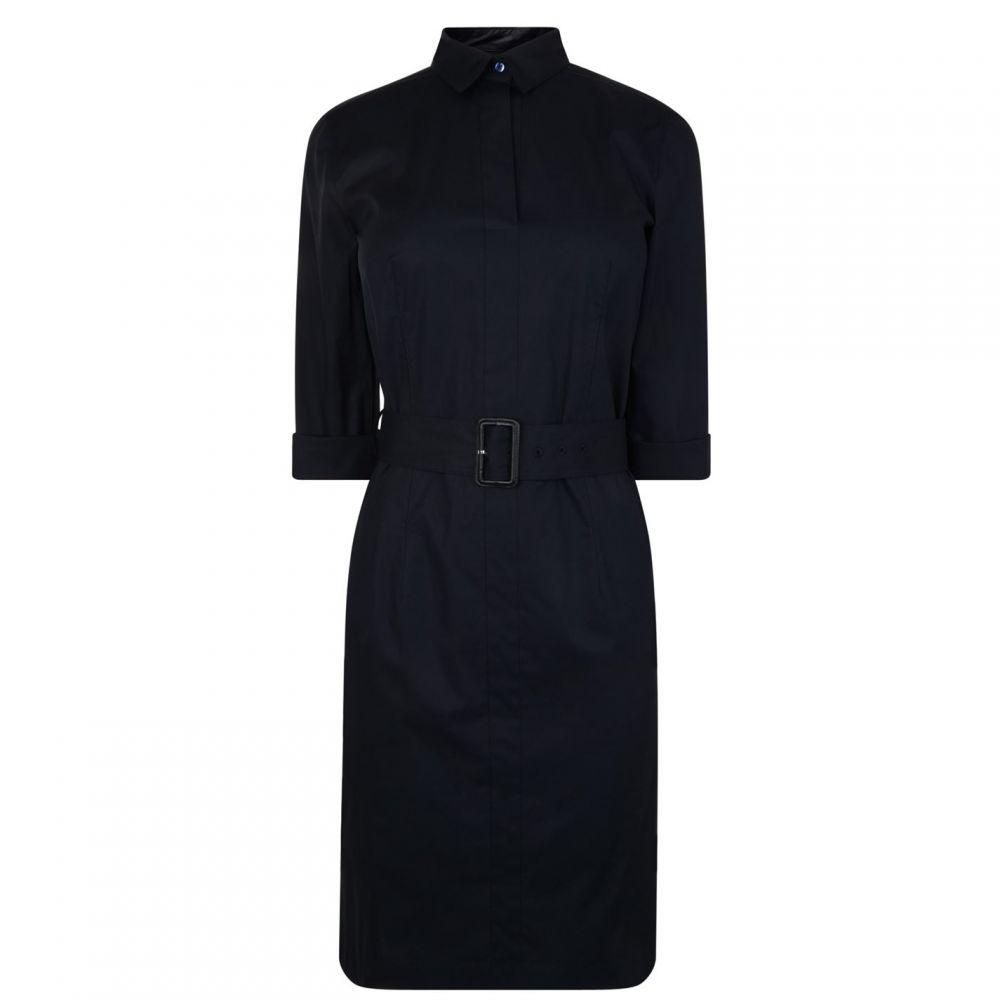 ヒューゴ ボス Boss レディース ワンピース シャツワンピース ワンピース・ドレス【Belted Shirt Dress】OPEN BLUE