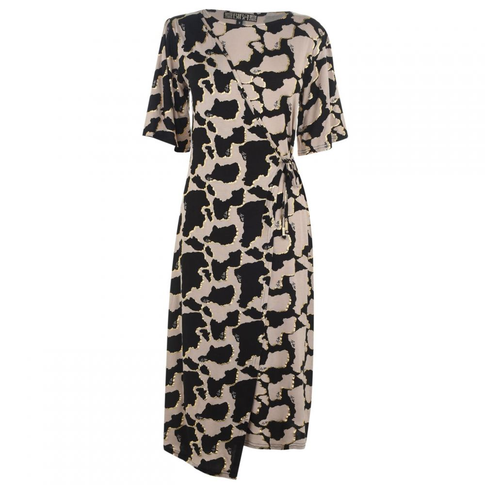 ビバ Biba レディース ワンピース ワンピース・ドレス【Mixed Print Dress】Cow Print