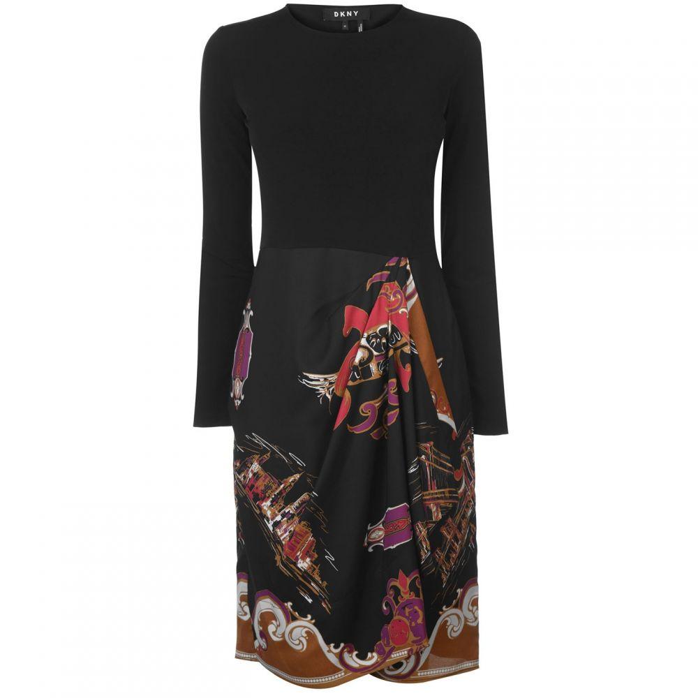 ダナ キャラン ニューヨーク DKNY レディース ワンピース ワンピース・ドレス【Long Sleeve Crew Neck Dress】Multi