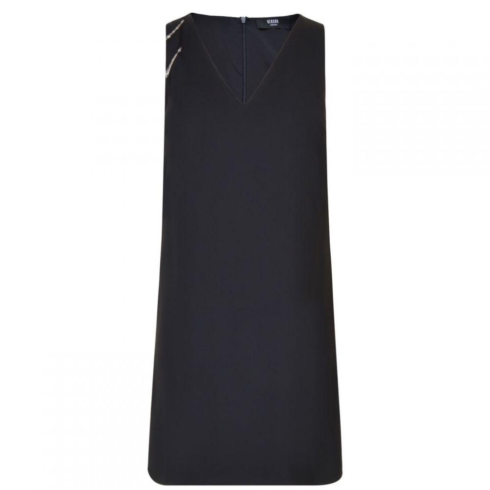 ヴェルサーチ VERSUS VERSACE レディース ワンピース ワンピース・ドレス【Safety Pin Dress】Black