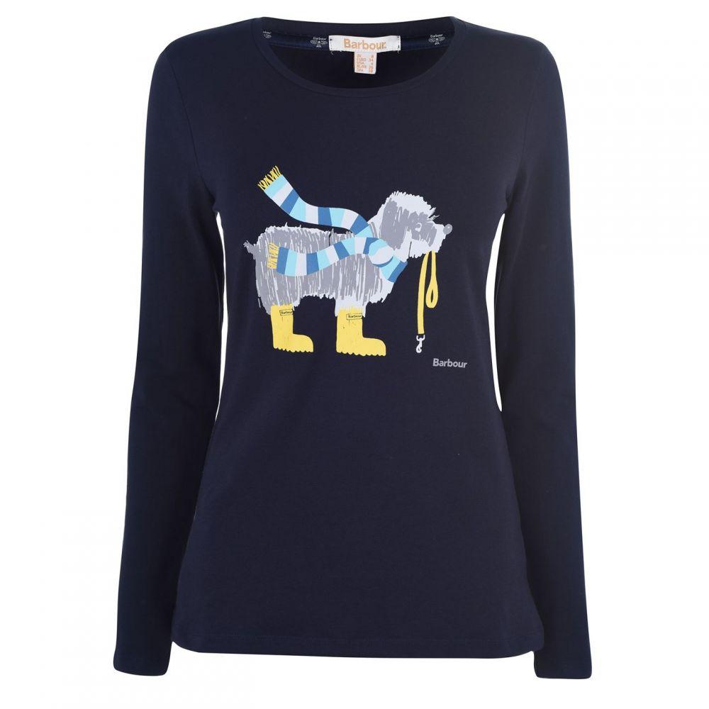 バブアー Barbour Lifestyle レディース Tシャツ トップス【Oyster Dog T Shirt】Navy