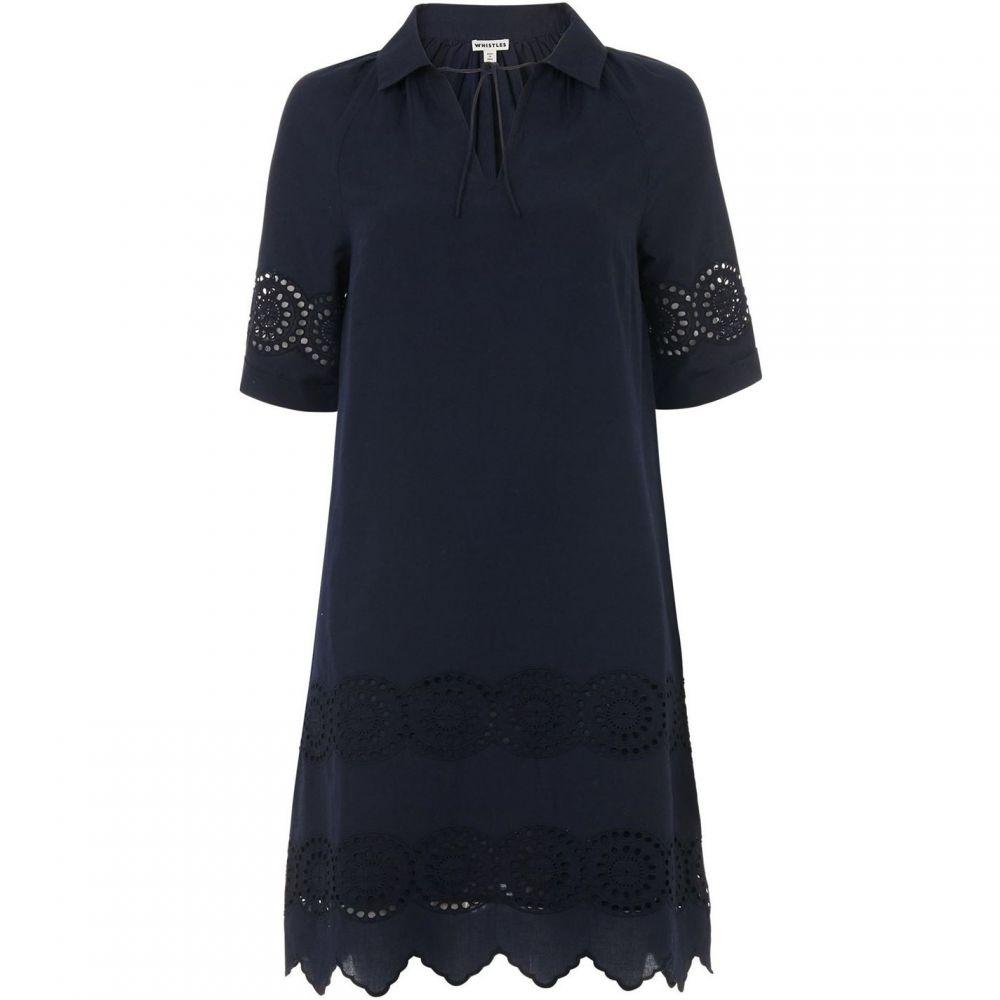 ホイッスルズ Whistles レディース ワンピース シャツワンピース ワンピース・ドレス【Broderie Shirt Dress】Navy
