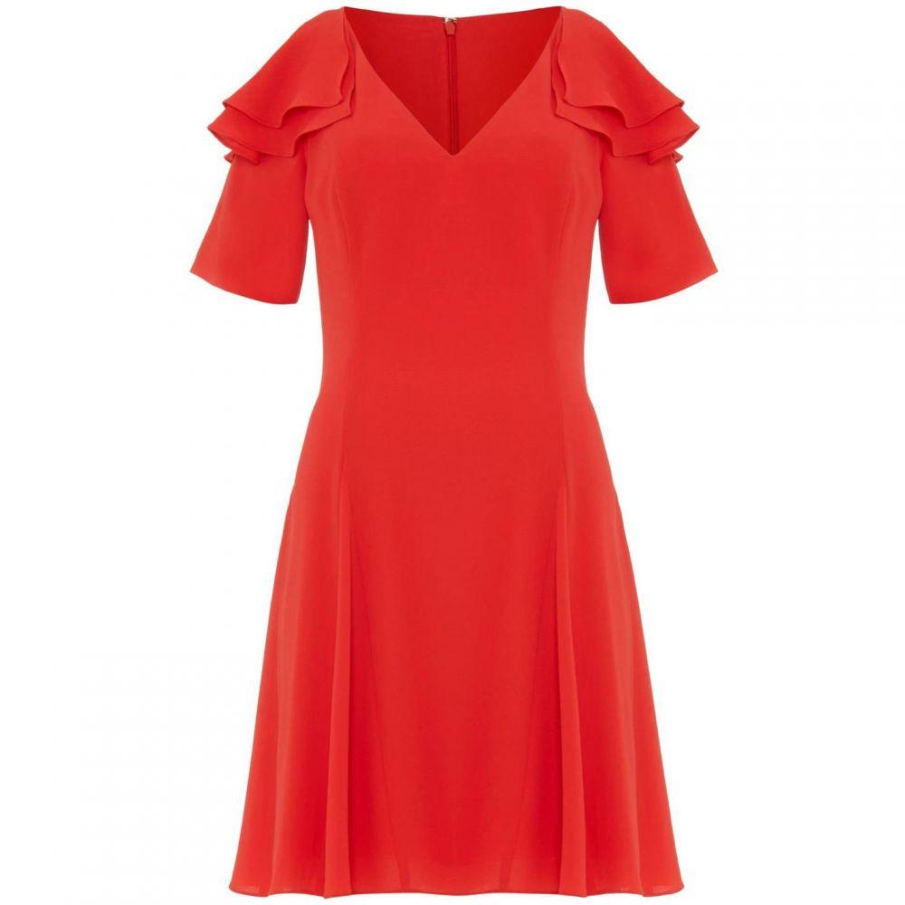 ダンセル Damsel in a Dress レディース ワンピース ワンピース・ドレス【Juna Ruffle Cold Shoulder Dress】Red