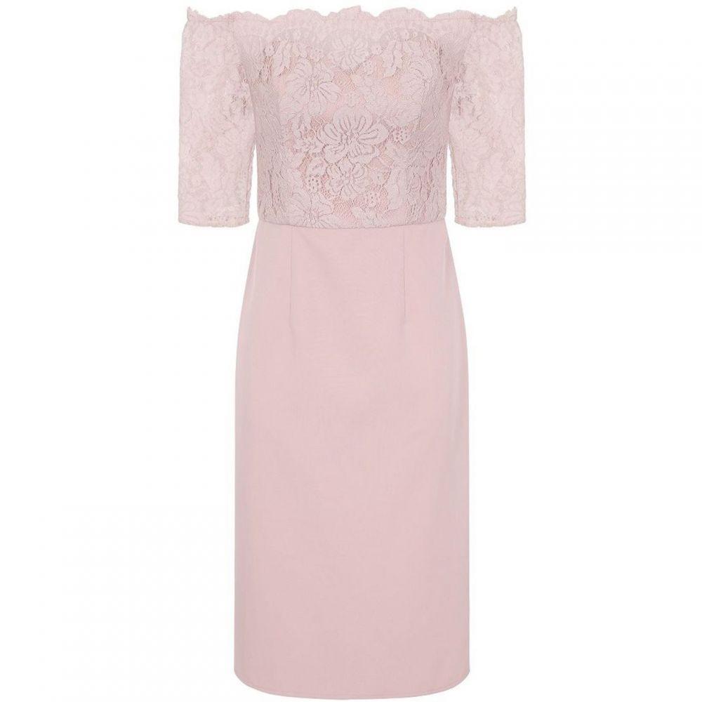チチ Chi Chi レディース ワンピース ミドル丈 ワンピース・ドレス【Lace Bardot Midi Dress】Pink