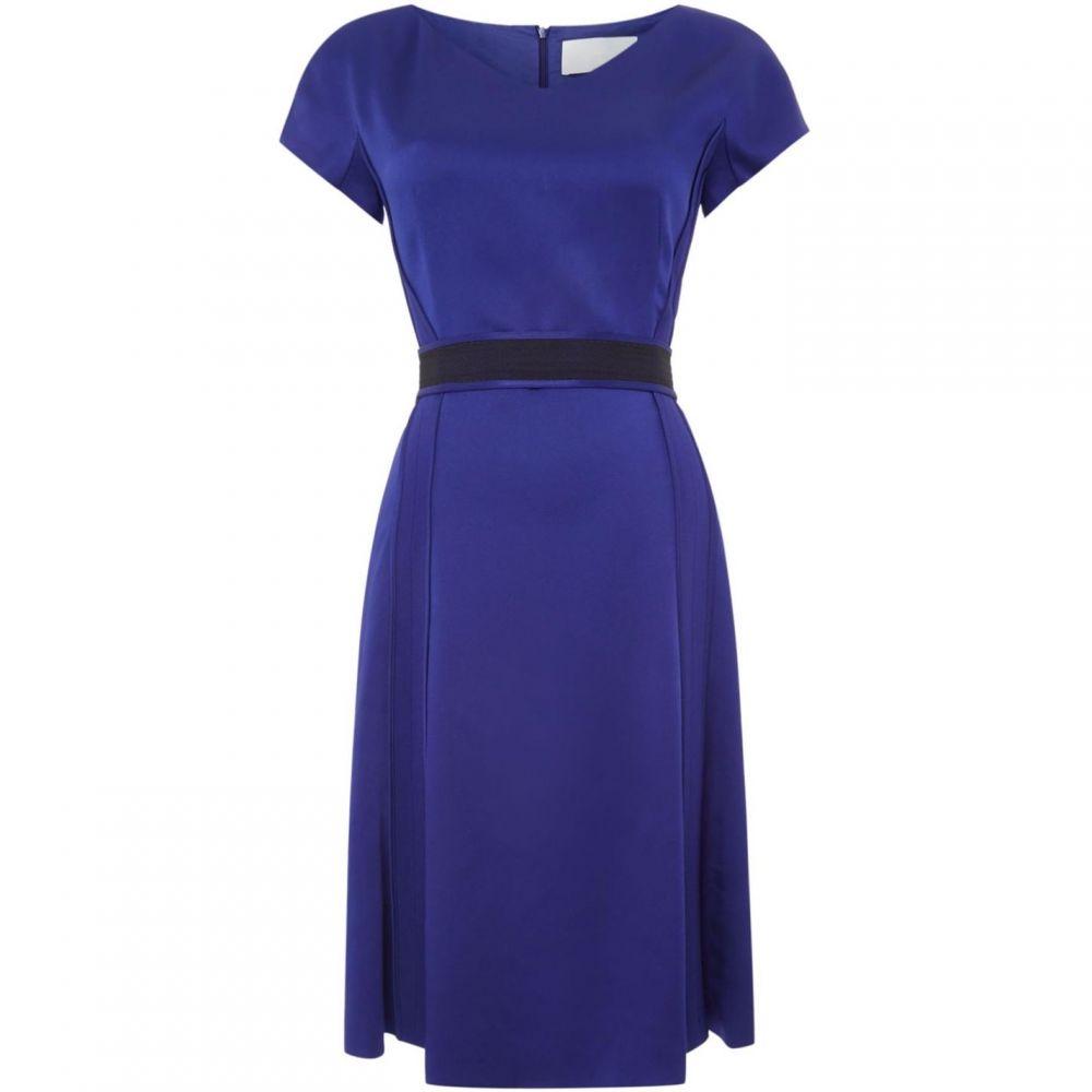 ヒューゴ ボス Boss レディース ワンピース Vネック ワンピース・ドレス【V neck dress with belted waist】Purple