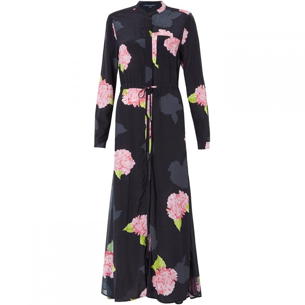 フレンチコネクション French Connection レディース ワンピース シャツワンピース ワンピース・ドレス【Eleonore Drape Midi Shirt Dress】black multi