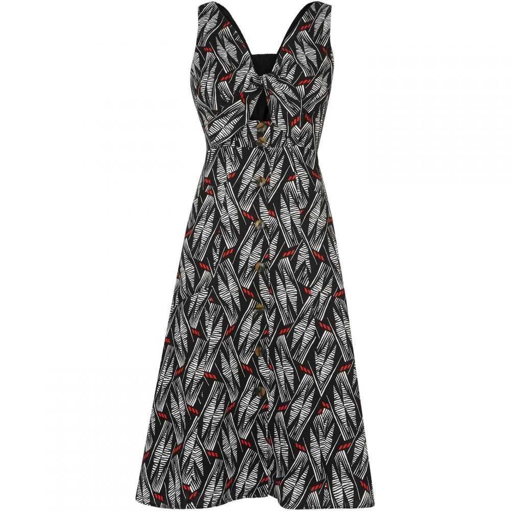 ホイッスルズ Whistles レディース ワンピース ワンピース・ドレス【Carrie Print Tie Detail Dress】Black