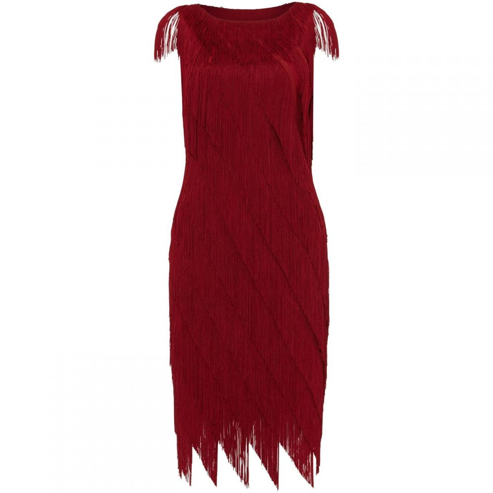 フェイズ エイト Phase Eight レディース ワンピース ワンピース・ドレス【Kacy Fringe Dress】Ruby Red