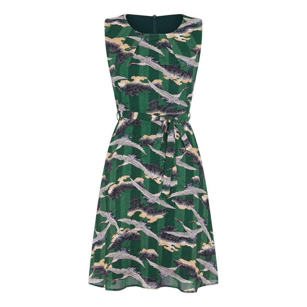 ユミ Yumi レディース ワンピース ワンピース・ドレス【Far East Print Dress】Green