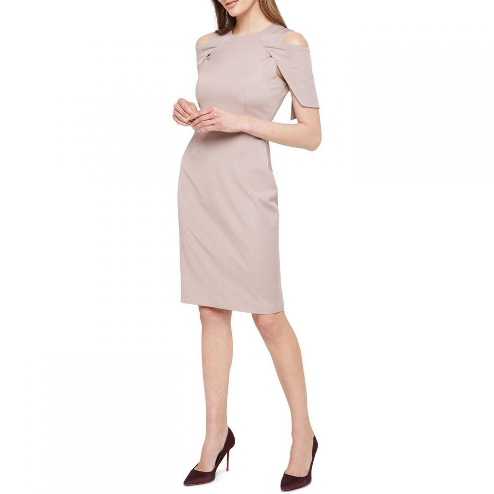 ダンセル Damsel in a Dress レディース ワンピース ワンピース・ドレス【Nicola Cold Shoulder Fitted Dress】Mink
