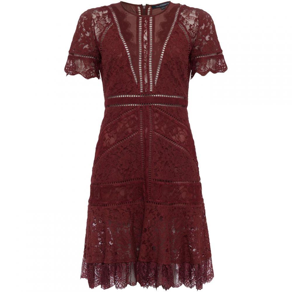 フレンチコネクション French Connection レディース ワンピース ワンピース・ドレス【Chante Lace Mix Dress】Red