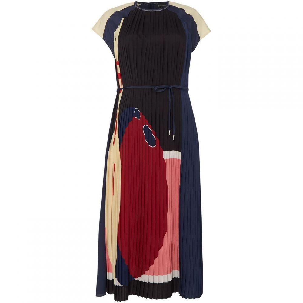 スポーツマックス Sportmax レディース ワンピース ワンピース・ドレス【Elia pleated cap sleeve dress】Black