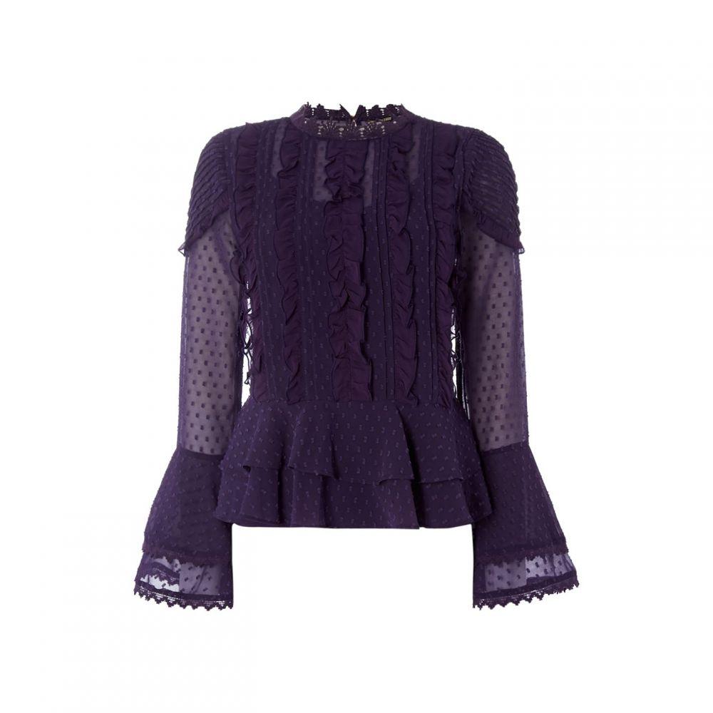 ビバ Biba レディース ブラウス・シャツ トップス【Victorian Blouse】Purple