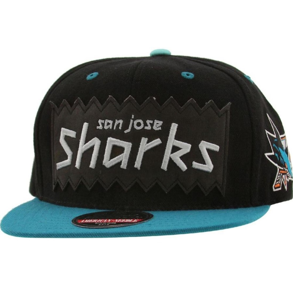 アメリカンニードル American Needle 帽子 キャップ【BAIT x NHL x American Needle San Jose Sharks NHL Retro Snapback Cap 】