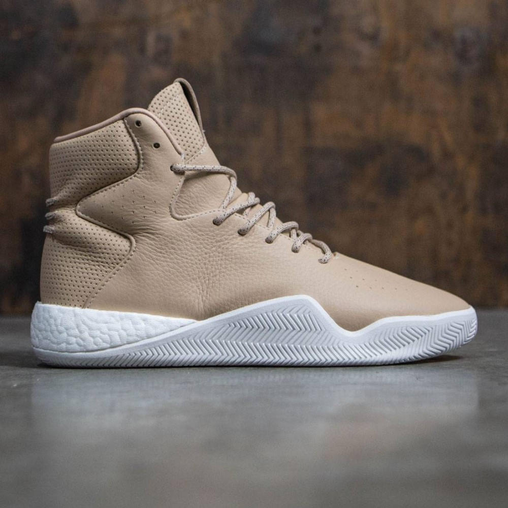 アディダス メンズ シューズ・靴 スニーカー【Adidas Tubular Instinct Boost】tan / brown / chalk white