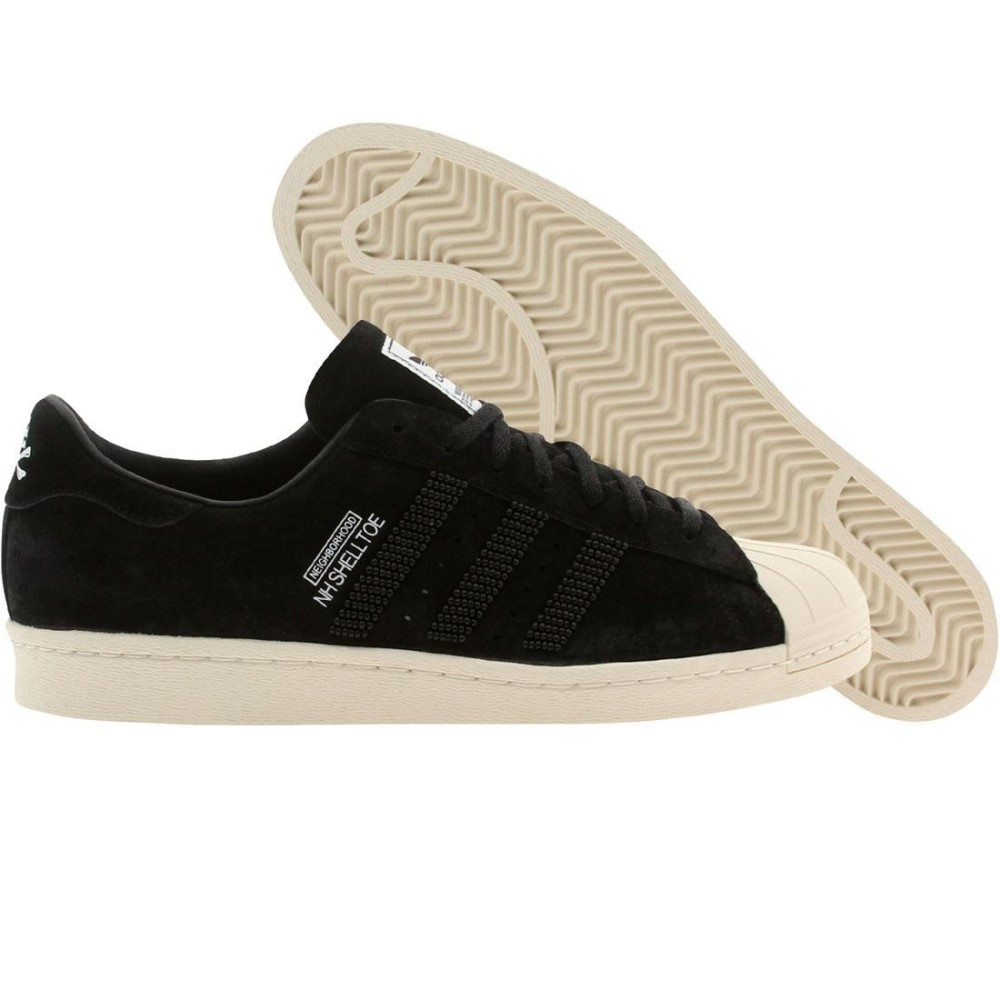 アディダス メンズ シューズ・靴 スニーカー【Adidas x Neighborhood Superstar Shelltoe】black / lbone