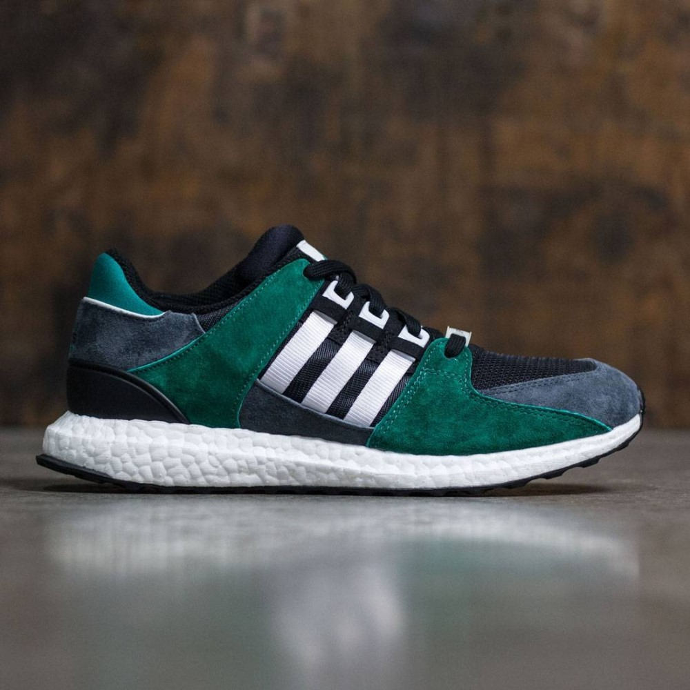 アディダス メンズ シューズ・靴 スニーカー【Adidas Equipment Support 93/16】black / footwear white / sub green