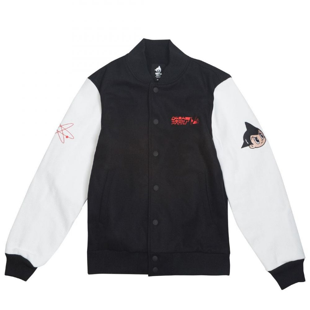 BAIT メンズ アウター ブルゾン【x Astroboy Step Varsity Jacket】black / white