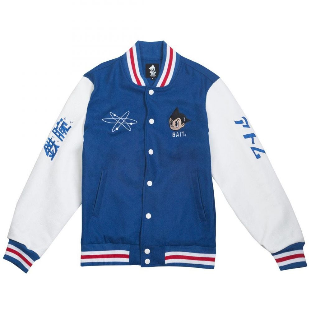 BAIT メンズ アウター ブルゾン【x Astroboy Launch Varsity Jacket】blue / white