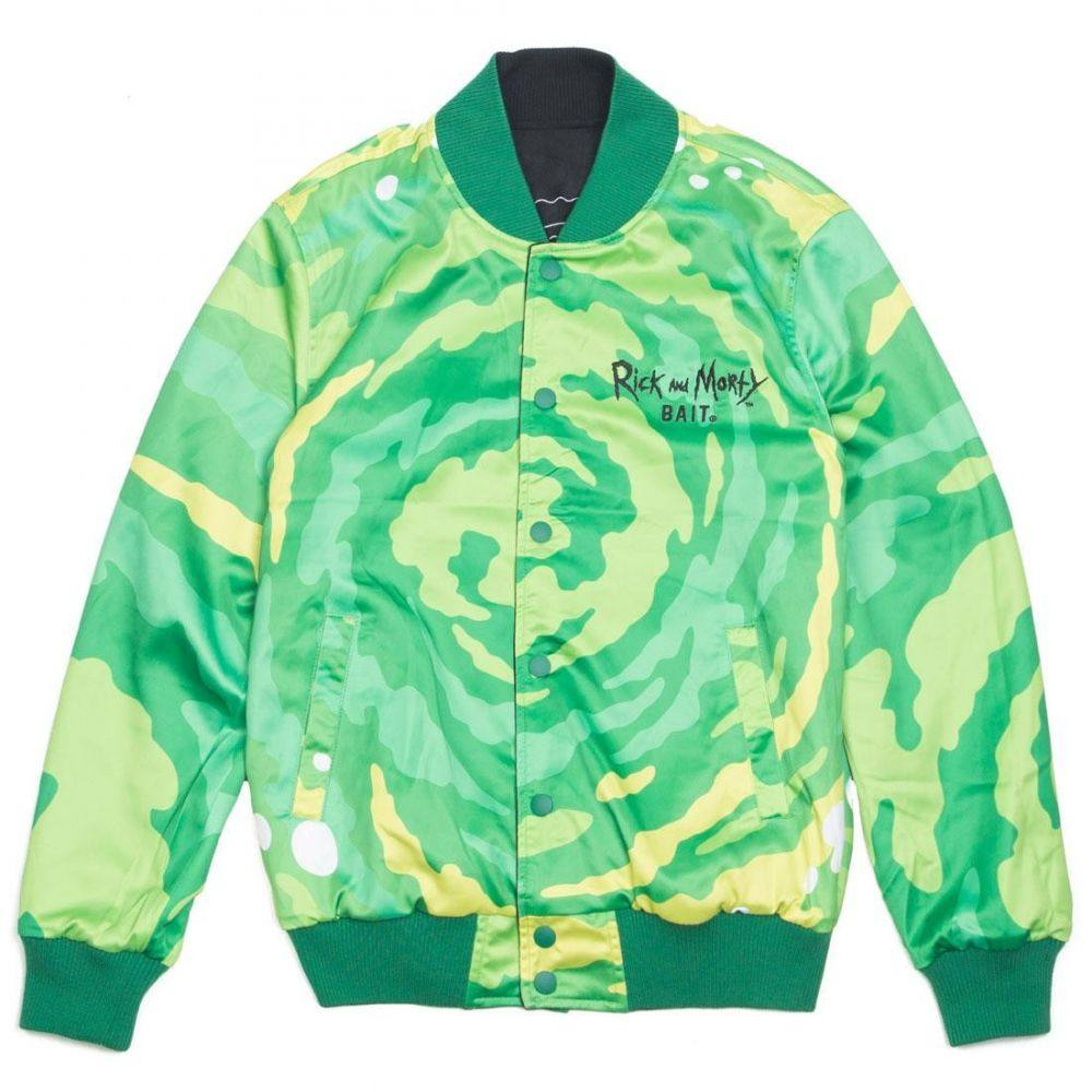 BAIT メンズ アウター ブルゾン【x Rick And Morty Reversible Varsity Jacket】black
