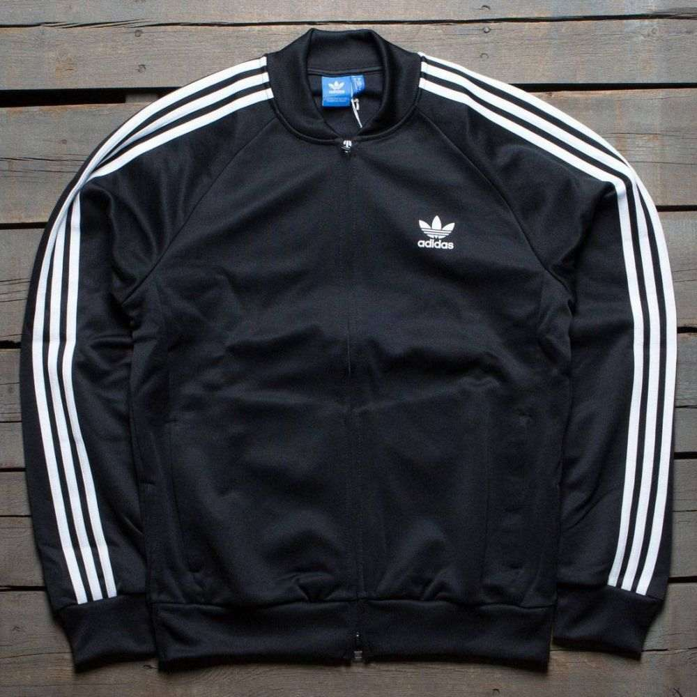 アディダス Adidas メンズ アウター ジャージ【Superstar Relaxed Track Jacket】black / white