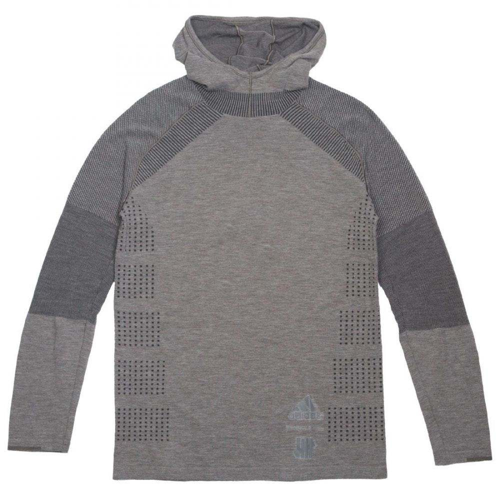 アディダス Adidas メンズ トップス 長袖Tシャツ【x Undefeated Primeknit Long Sleeve Tee】gray / cinder / utility black