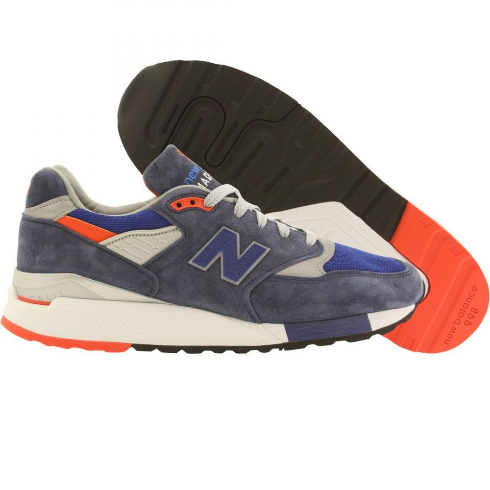 ニューバランス New Balance メンズ シューズ・靴 スニーカー【998 Heritage M998CSAL - Made In USA】navy / silver / orange