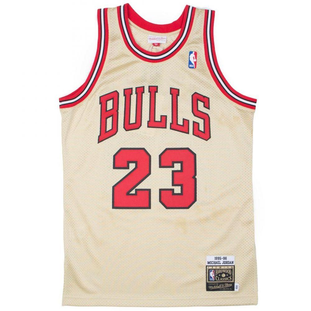ミッチェル アンド ネス Mitchell And Ness メンズ トップス【Chicago Bulls Michael Jordan Gold Jersey - 23】gold / red