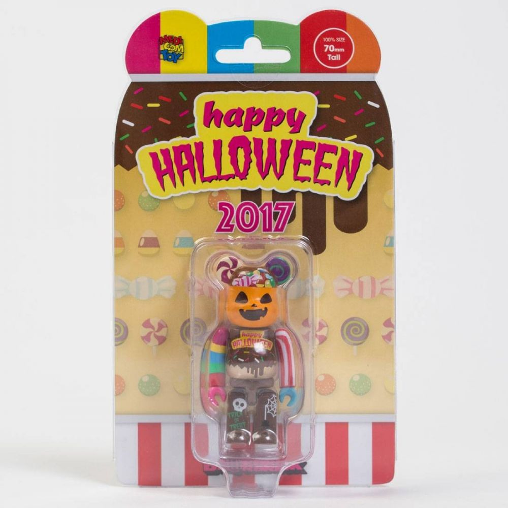 ベアブリック Bearbrick フィギュア 【2017 halloween 100% bearbrick figure】brown