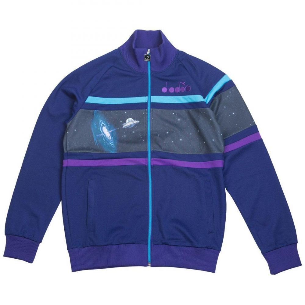ディアドラ Diadora メンズ ジャージ アウター【x rick and morty men intergalactic track jacket】blue/ming blue