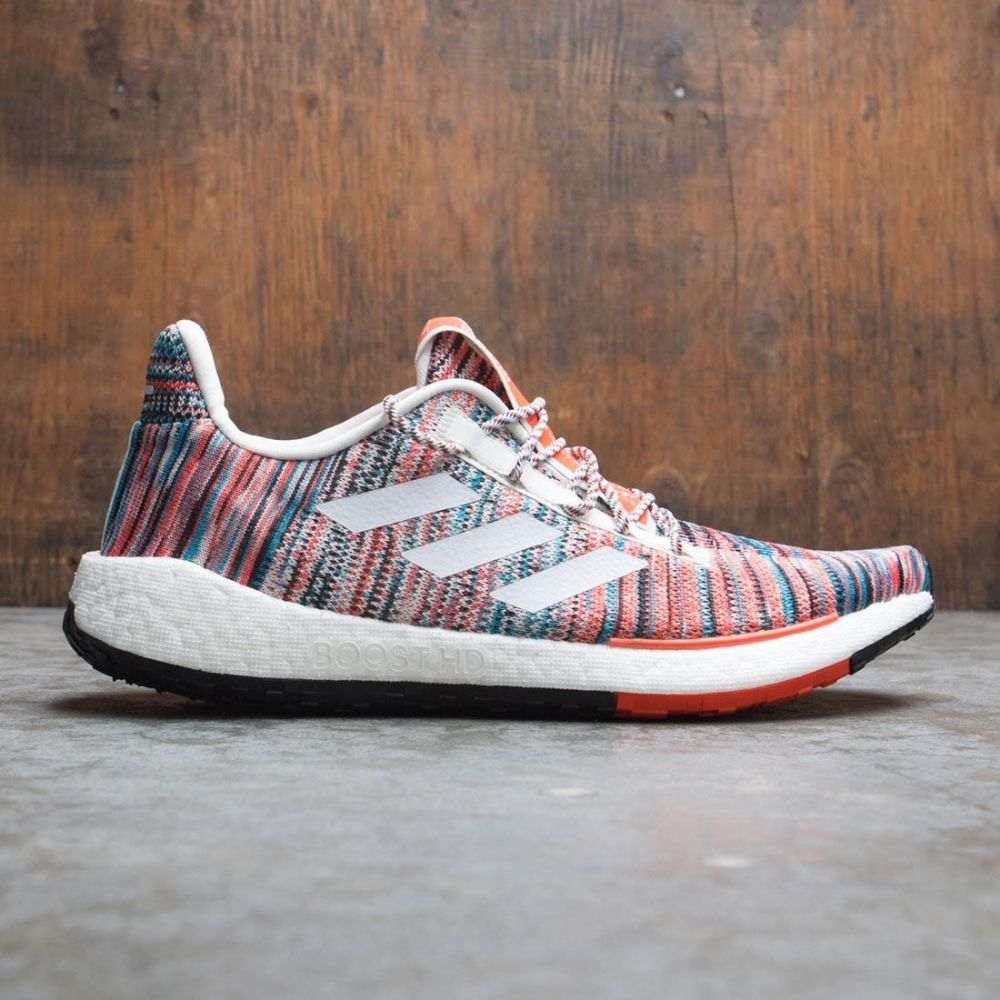 アディダス Adidas メンズ スニーカー ミッソーニ シューズ・靴【consortium x missoni men pulseboost hd】white/raw white/active orange