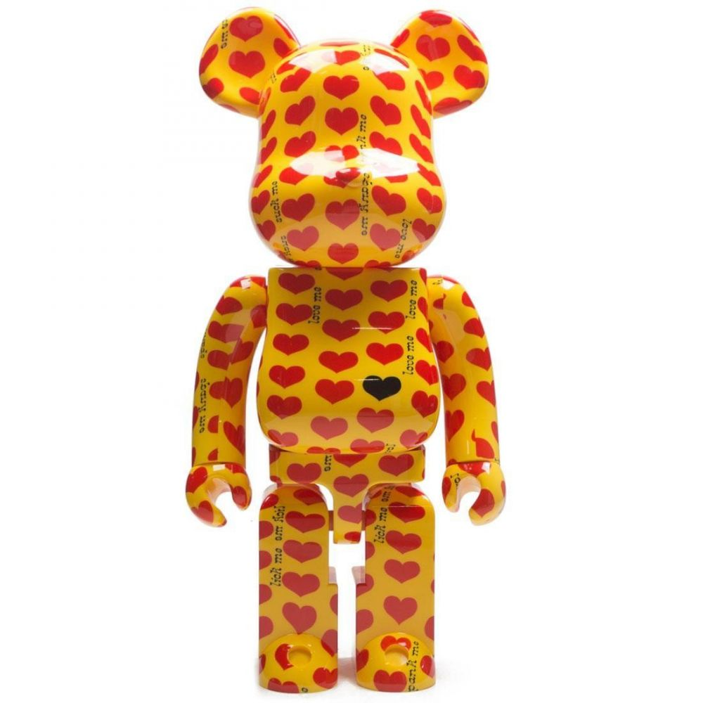 ベアブリック Bearbrick フィギュア 【x japan hide yellow heart 1000% bearbrick figure】yellow