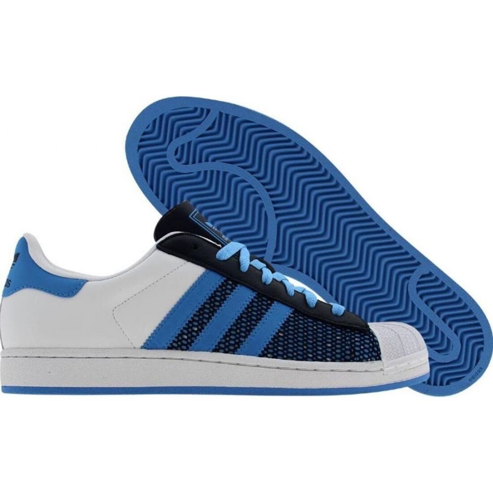 アディダス Adidas メンズ スニーカー シューズ・靴【Superstar】runninwhite/college blue/college navy