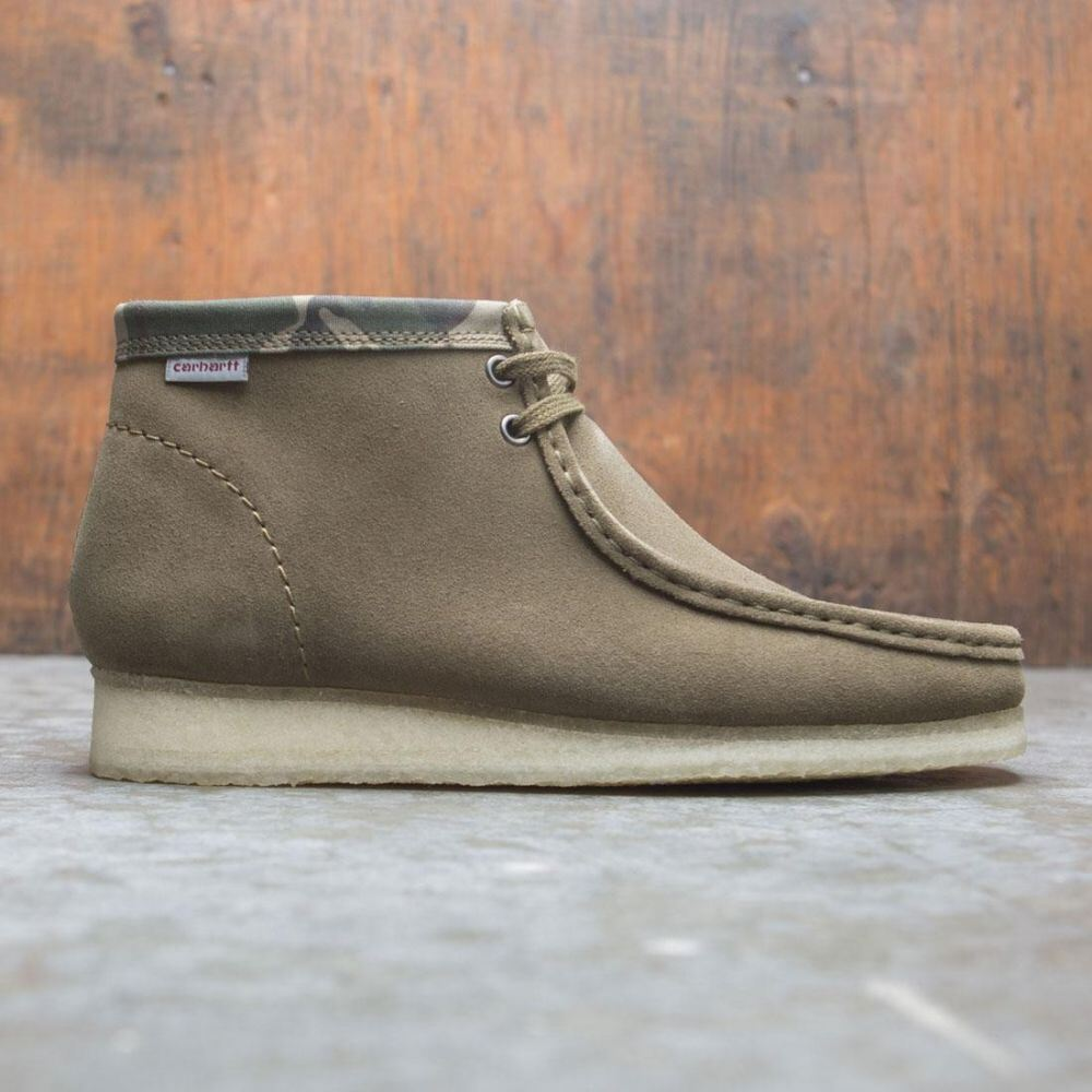 クラークス Clarks メンズ ブーツ シューズ・靴【x Carhartt WIP Wallabee Boot】green/suede