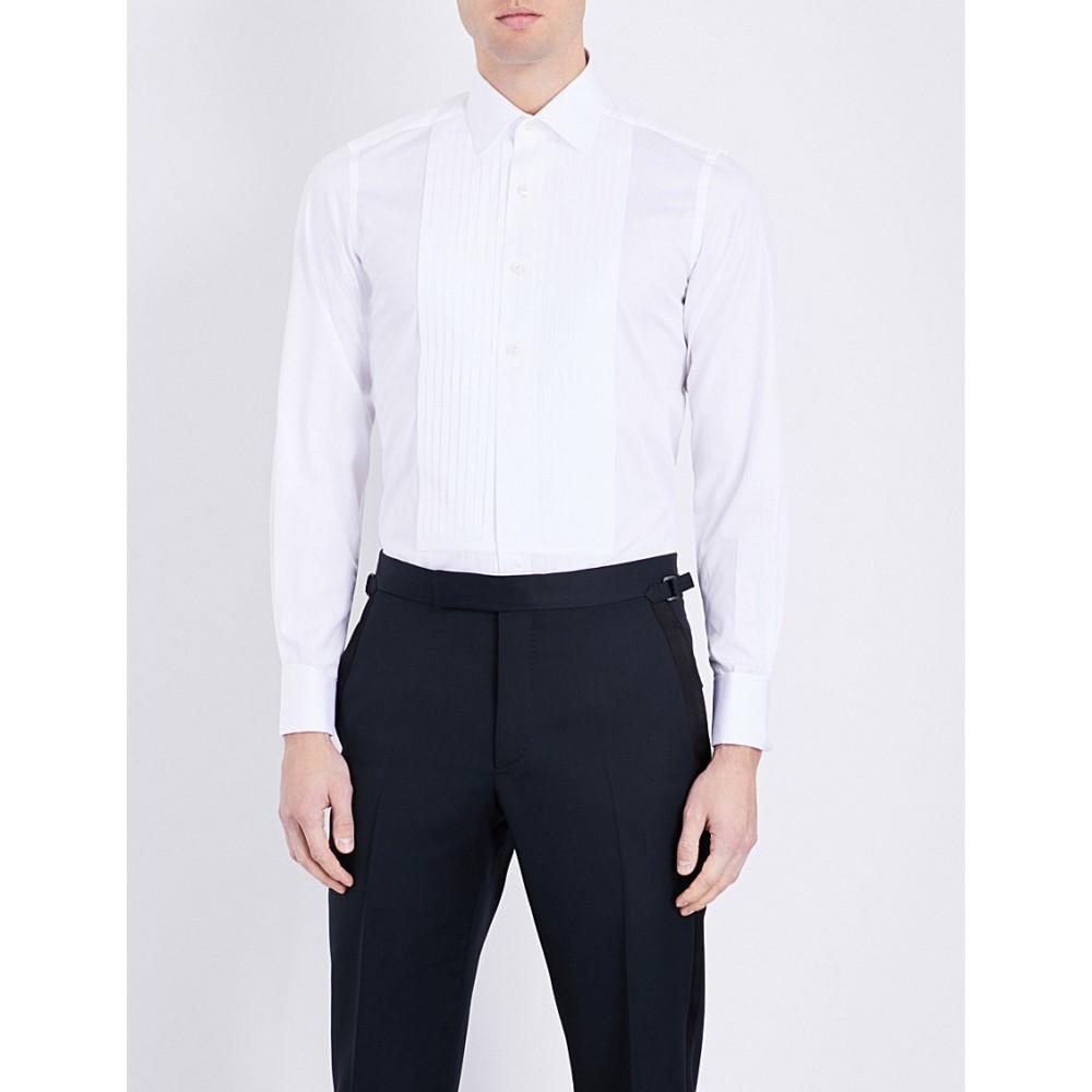 トム フォード tom ford メンズ トップス フォーマルシャツ【slim-fit cotton evening shirt】White