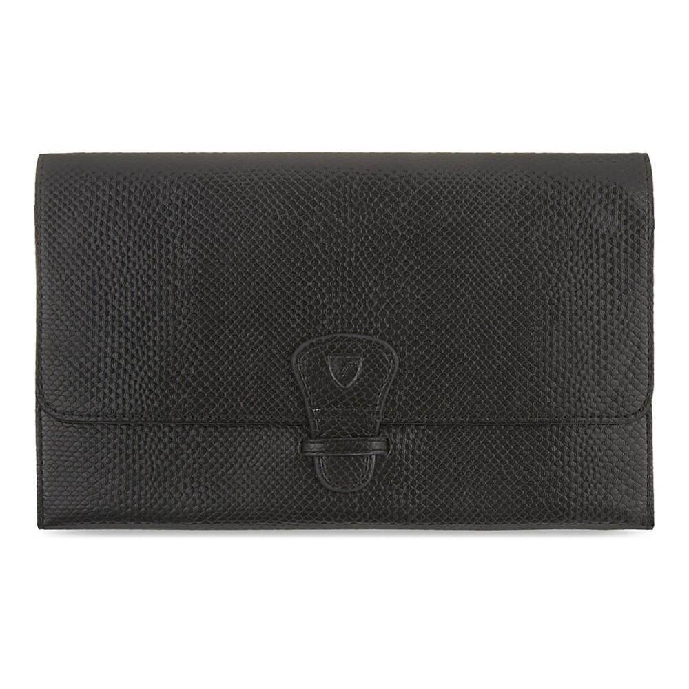 アスピナル オブ ロンドン aspinal of london レディース アクセサリー 財布【classic leather travel wallet】Black