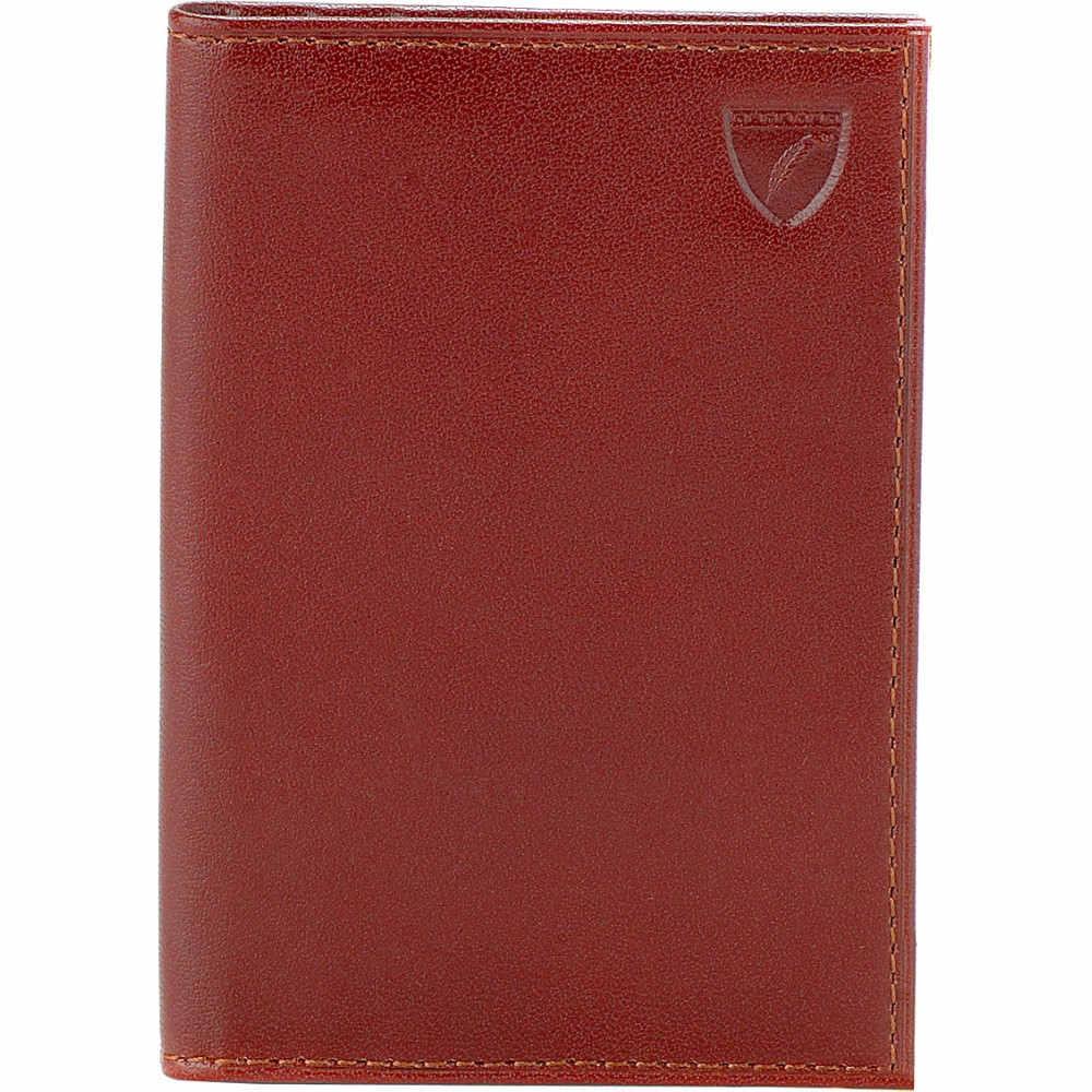 アスピナル オブ ロンドン aspinal of london メンズ アクセサリー カードケース【double-fold leather card holder】Cognac