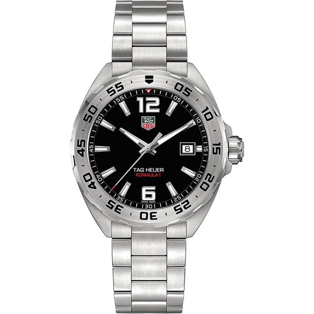 タグ ホイヤー tag heuer メンズ アクセサリー 腕時計【waz1112.ba0875 formula 1 stainless steel watch】Black