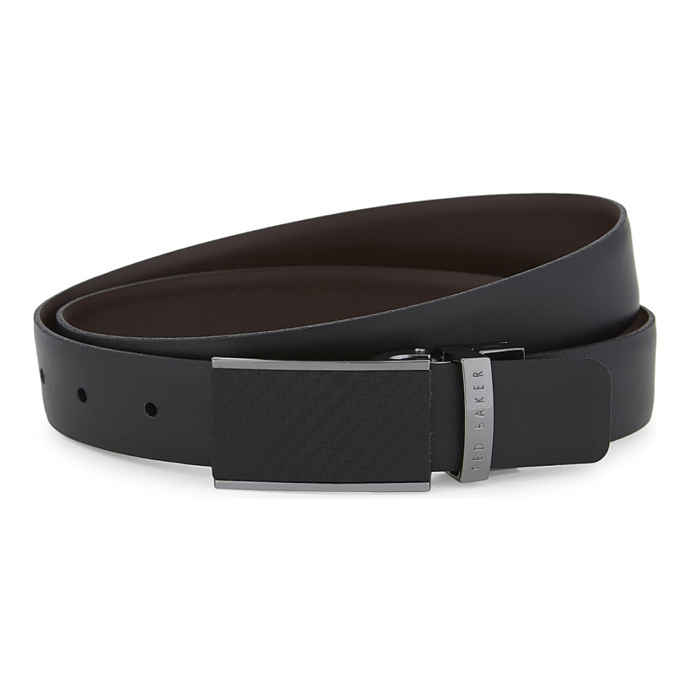 テッドベーカー ted baker メンズ アクセサリー ベルト【reversible carbon fibre buckle leather belt】Black