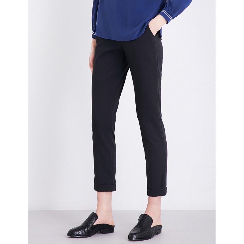 ホイッスルズ whistles レディース ボトムス トラウザーズ【sadie slim mid-rise woven trousers】Black