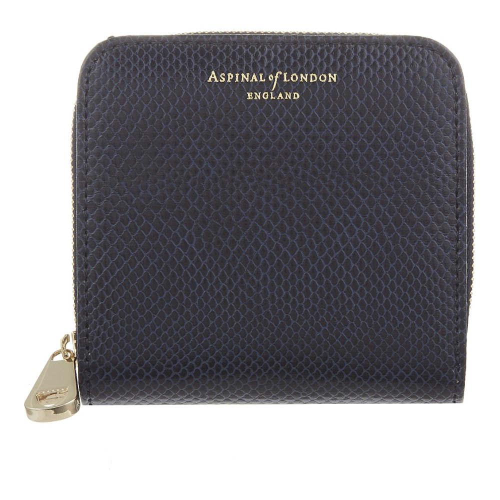 アスピナル オブ ロンドン aspinal of london レディース アクセサリー 財布【mini continental coin purse】Navy