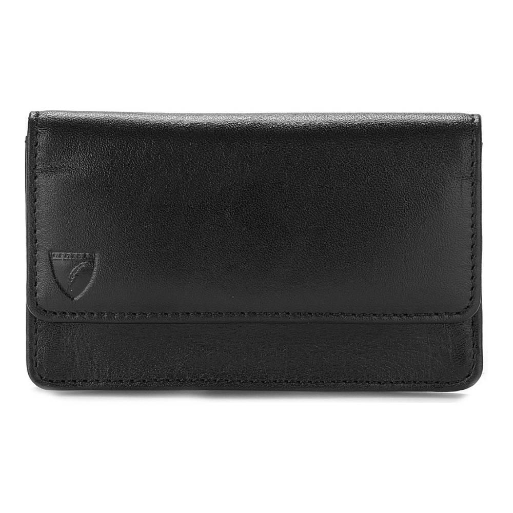 アスピナル オブ ロンドン aspinal of london メンズ アクセサリー カードケース【business and credit card leather case】Black