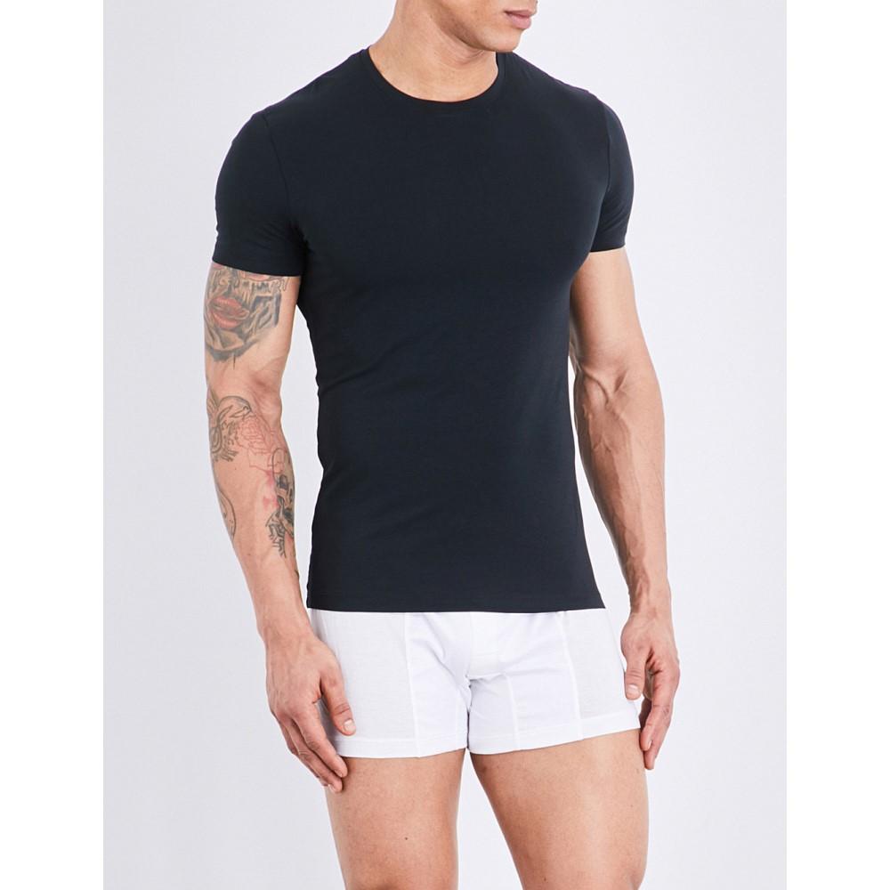ラ ペルラ la perla メンズ インナー パジャマ・トップのみ【seamless stretch-cotton t-shirt】Black