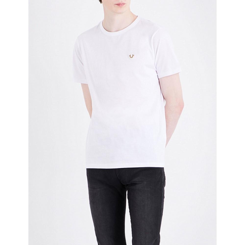 トゥルー レリジョン true religion メンズ トップス Tシャツ【logo-detail cotton-jersey t-shirt】White