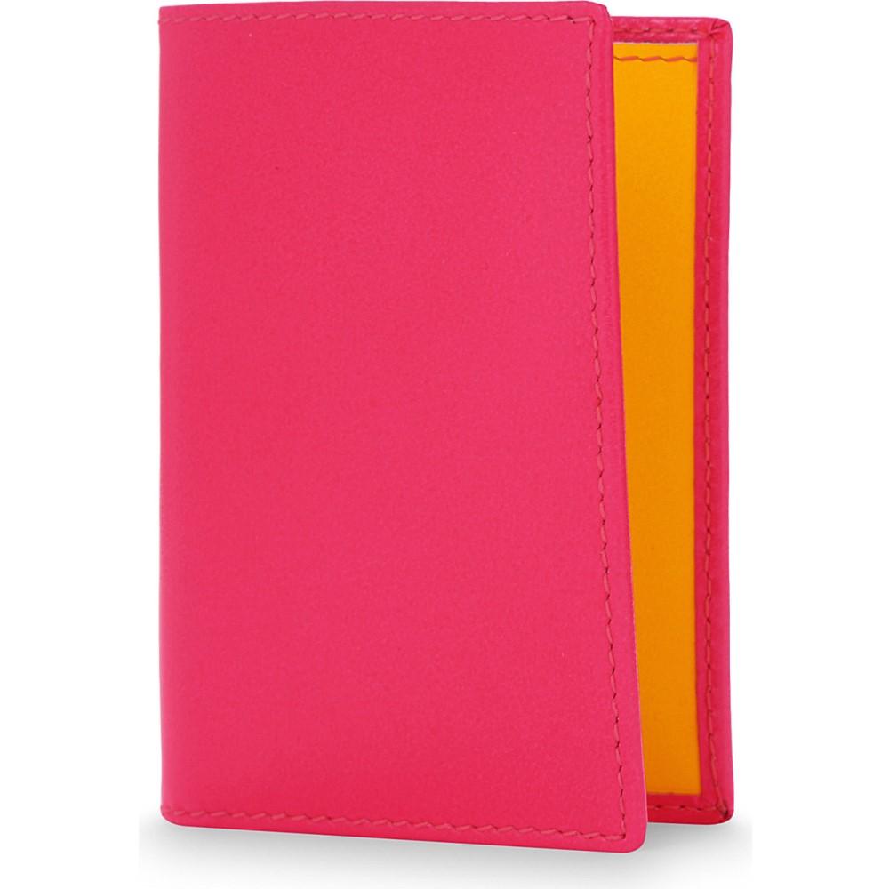 コム デ ギャルソン comme des garcons レディース 財布・時計・雑貨 カードケース・名刺入れ【super flourescent leather card holder】Pink